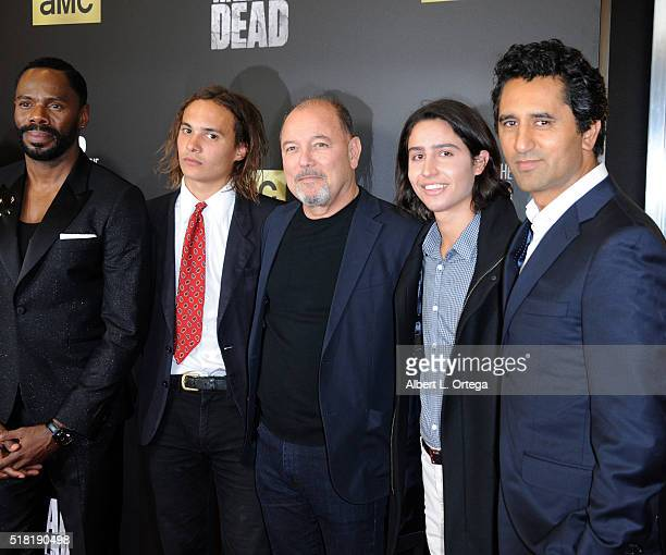 Actors Colman Domingo Frank Dillane Ruben Blades Lorenzo James Henrie and Cliff Curtis arrive for the Premiere Of AMC's 'Fear The Walking Dead'...