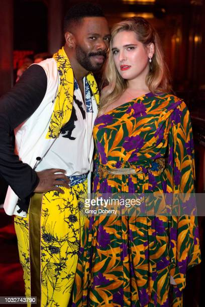 Actors Colman Domino and Hari Nef attend the Premiere Of Neon and Refinery29's Assassination Nation After Party at The Avenue on September 12 2018 in...