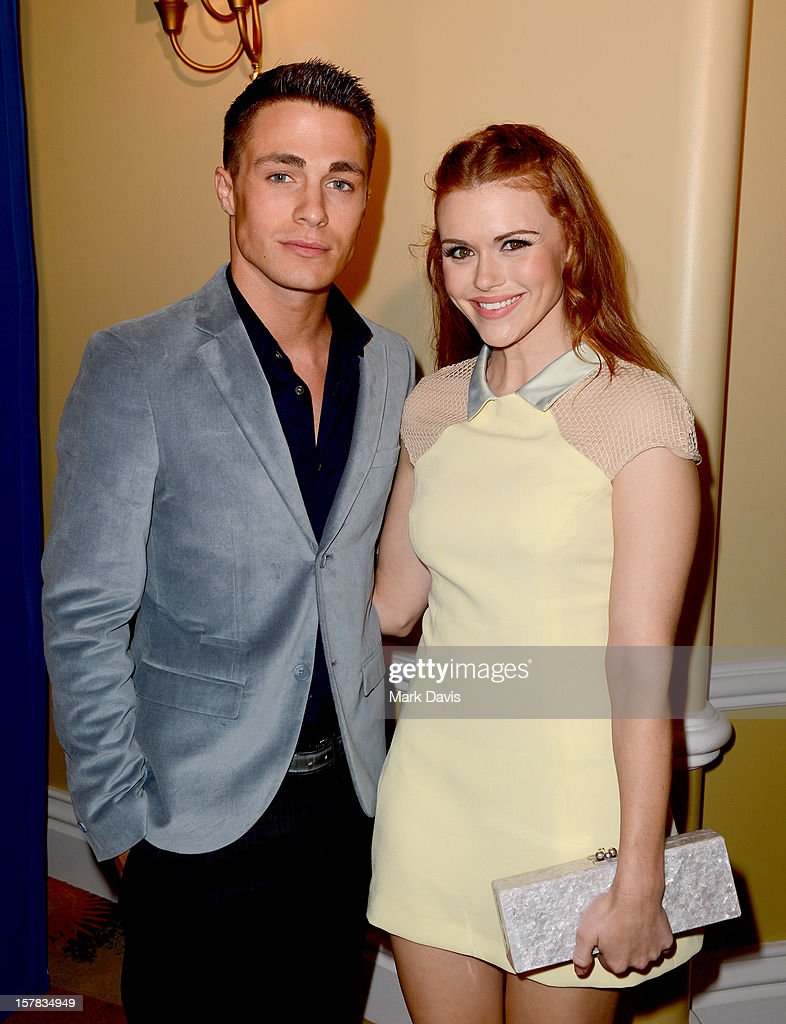 Actors Colton Haynes (L) and Holland Roden arrive at the Children's Defense Fund of California 22nd Annual Beat The Odds Awards at Beverly Hills Hotel on December 6, 2012 in Beverly Hills, California.