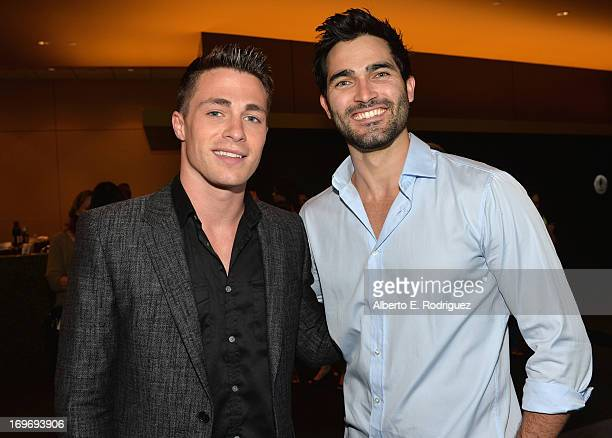 Actors Colton Haynes and Tyler Hoechlin attend a Screening Of Matthew Morrison's PBS Special Matthew Morrison Where It All Began Live From The...