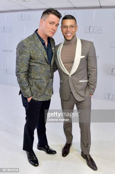 Actors Colton Haynes and Wilson Cruz attend the Costume Designers Guild Awards at The Beverly Hilton Hotel on February 20 2018 in Beverly Hills...