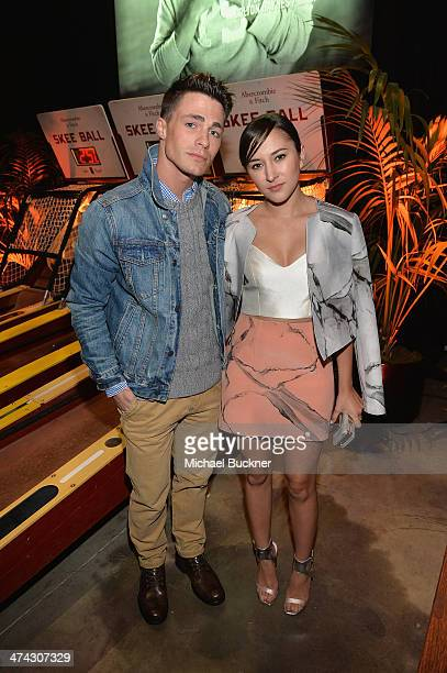 "Actors Colton Haynes and Zelda Williams celebrate the Abercrombie Fitch ""The Making of a Star"" Spring Campaign Party in Hollywood CA on February 22..."