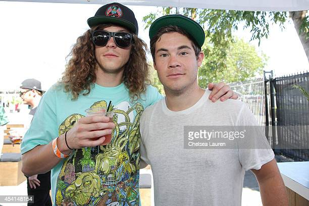 Actors / comedians Blake Anderson and Adam DeVine attend day 2 of FYF Fest at Los Angeles Sports Arena on August 24 2014 in Los Angeles California