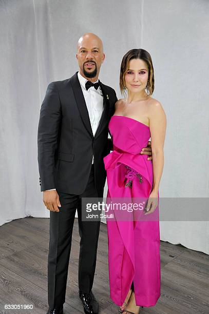 Actors Common and Sophia Bush attend The 23rd Annual Screen Actors Guild Awards at The Shrine Auditorium on January 29 2017 in Los Angeles California...