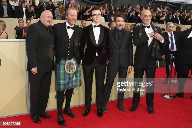 Actors Conleth Hill Iain Glen Isaac Hempstead Wright Aidan Gillen and James Faulkner attend the 24th Annual Screen Actors Guild Awards at The Shrine...