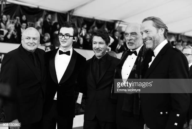 Actors Conleth Hill, Isaac Hempstead Wright, Aidan Gillen, James Faulkner and Iain Glen attend the 24th Annual Screen Actors Guild Awards at The...