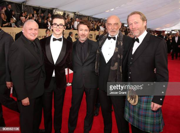 Actors Conleth Hill Isaac Hempstead Wright Aidan Gillen James Faulkner and Iain Glen attend the 24th Annual Screen Actors Guild Awards at The Shrine...
