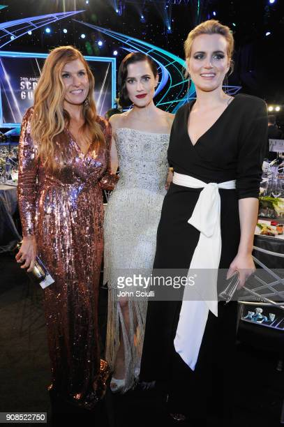 Actors Connie Britton Allison Williams and Taylor Schilling attend the 24th Annual Screen Actors Guild Awards at The Shrine Auditorium on January 21...