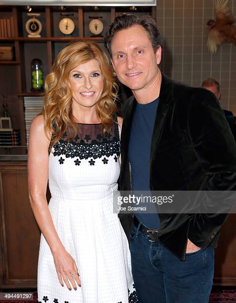 Actors Connie Britton and Tony Goldwyn attend the Variety Studio powered by Samsung Galaxy at Palihouse on May 29 2014 in West Hollywood California