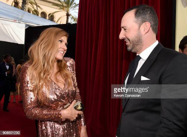 Actors Connie Britton and Tony Hale attend the 24th Annual Screen ActorsGuild Awards at The Shrine Auditorium on January 21 2018 in Los Angeles...