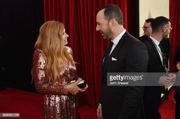 Actors Connie Britton and Tony Hale attend the 24th Annual Screen Actors Guild Awards at The Shrine Auditorium on January 21 2018 in Los Angeles...