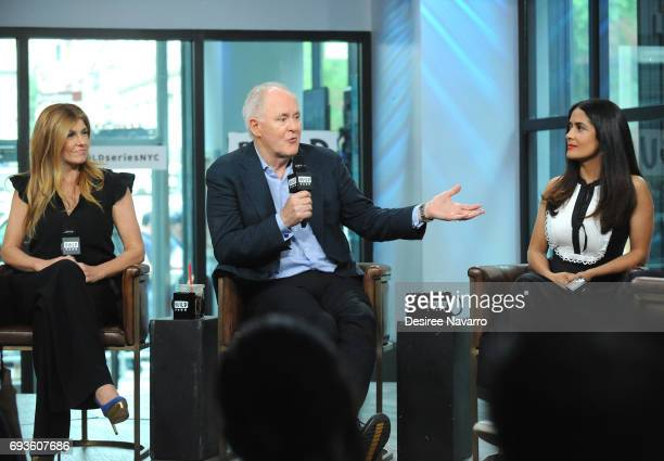 Actors Connie Britton John Lithgow and Salma Hayek attend Build to discuss 'Beatriz At Dinner' at Build Studio on June 7 2017 in New York City