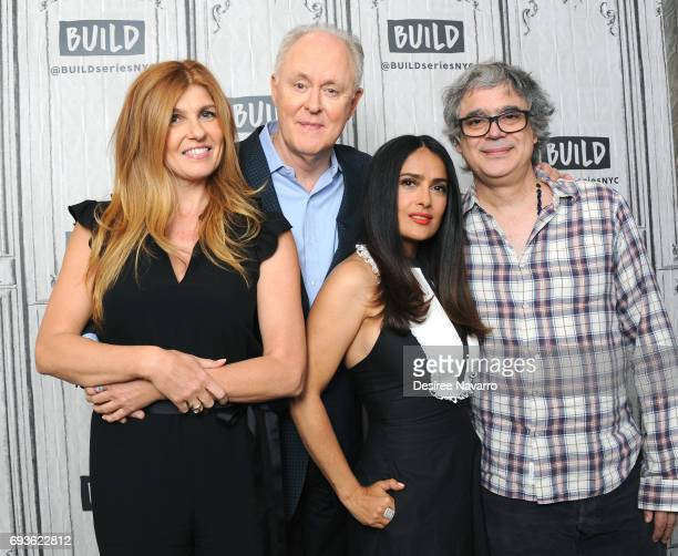 Actors Connie Britton John Lithgow Salma Hayek and director Miguel Arteta attend Build to discuss 'Beatriz At Dinner' at Build Studio on June 7 2017...