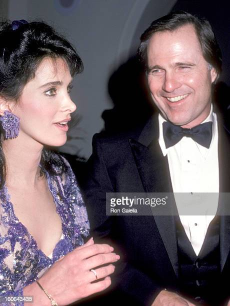Actors Connie Sellecca and Gil Gerard attend the Hollywood Walk of Fame Ceremony Honoring Stephen J Cannell on January 14 1986 at 7000 Hollywood...