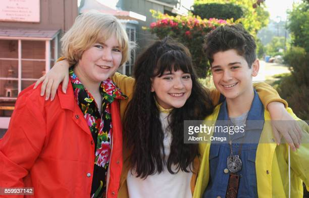 Actors Connor Dean Chloe Noelle and Jax Malcolm attend the 2nd Annual #Action Jax Movie Morning Fundraiser screening of 'The Goonies' presented by...