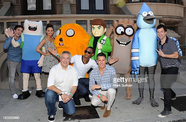 Actors Connor Del Rio Aimee Carrero Cartoon Networks President/COO of TBS Animation Stuart Snyder actor Jessie Usher Cartoon Networks Chief Content...