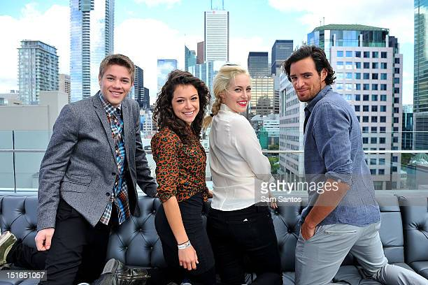Actors Connor Jessup Tatiana Maslany Charlotte Sullivan and Charlie Carrick attend the Rising Stars 2012 at TIFF Bell Lightbox on September 9 2012 in...