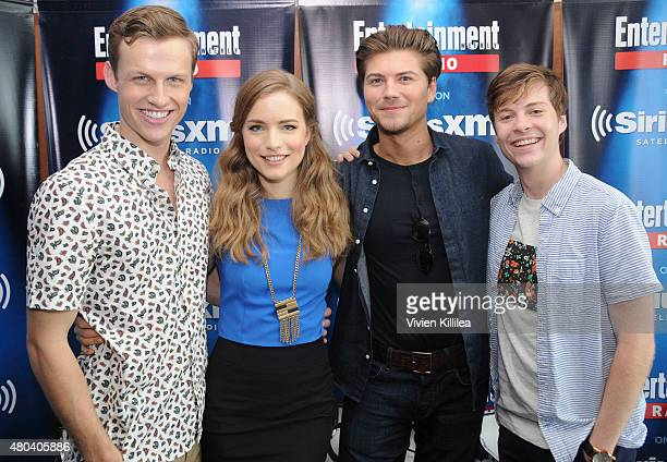 Actors Connor Weil Willa Fitzgerald Amadeus Serafini and John Karna attend SiriusXM's Entertainment Weekly Radio Channel Broadcasts From ComicCon...