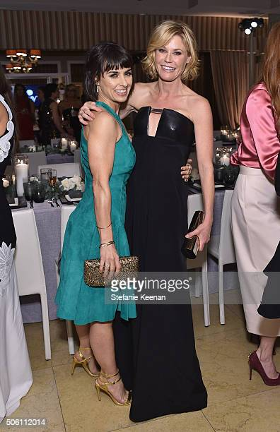 Actors Constance Zimmer and Julie Bowen attend ELLE's 6th Annual Women in Television Dinner Presented by Hearts on Fire Diamonds and Olay at Sunset...