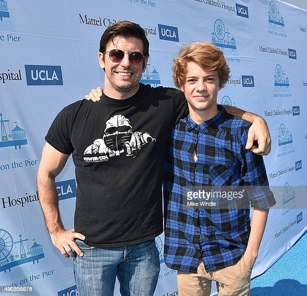 Actors Cooper Barnes and Jace Norman attend the Mattel Party On The Pier at Santa Monica Pier on September 27 2015 in Santa Monica California