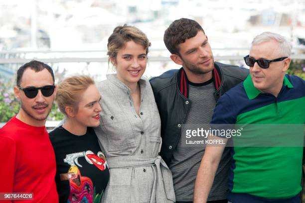 Actors Coralie Russier Adele Haenel Arnaud Valois director Robin Campillo attend the '120 Beats Per Minute ' photocall during the 70th annual Cannes...