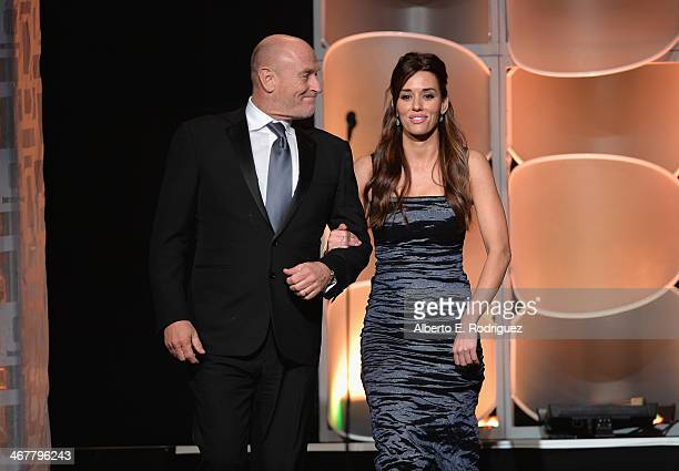 Actors Corbin Bernsen and Cory Oliver speak on stage at the 22nd Annual Movieguide Awards Gala at the Universal Hilton Hotel on February 7 2014 in...