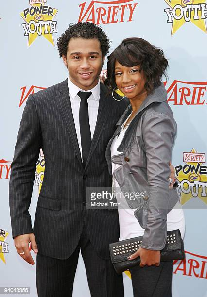 Actors Corbin Bleu and Monique Coleman arrive to Variety's 3rd Annual Power of Youth event held at the Paramount Studios backlot on December 5 2009...