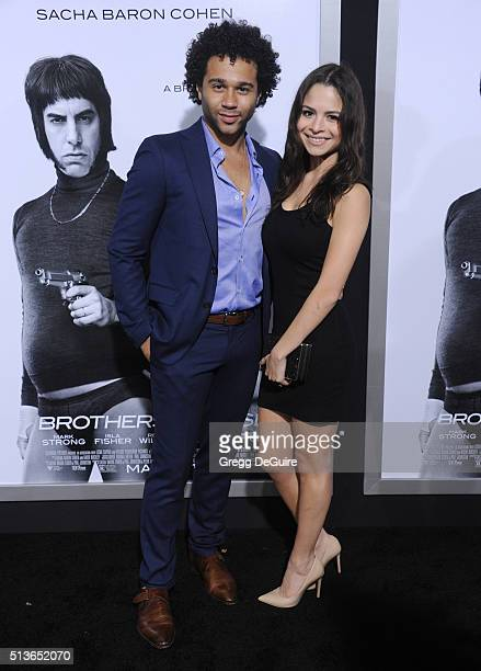 Actors Corbin Bleu and Sasha Nicole Clements arrive at the premiere of Columbia Pictures And Village Roadshow Pictures 'The Brothers Grimsby' at...