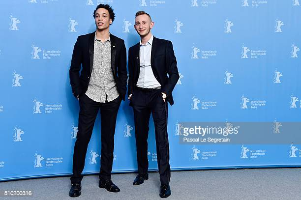 Actors Corentin Fila and Kacey Mottet Klein attend the 'Being 17' photo call during the 66th Berlinale International Film Festival Berlin at Grand...