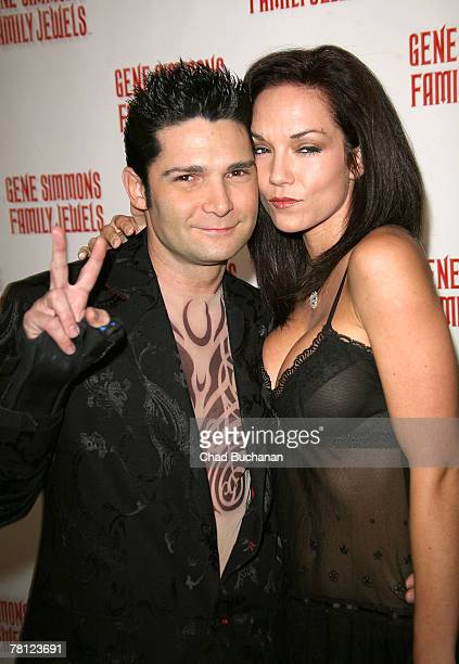 Actors Corey Feldman and wife Susie Feldman attend the Gene Simmons Roast at the Key Club on November 27 2007 in West Hollywood California