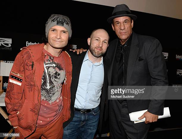 """Actors Corey Feldman, Jeff Cohen and Robert Davi attend the screening for """"Goonies"""" during the Entertainment Weekly CapeTown Film Festival Presented..."""