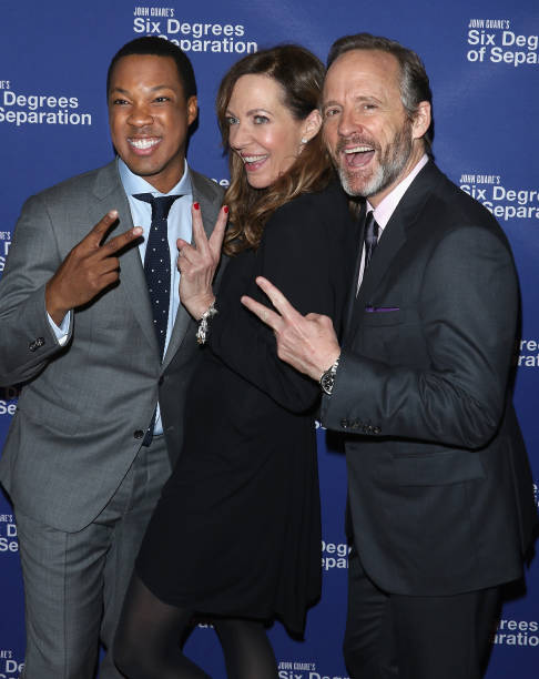 Actors Corey Hawkins Allison Janney And John Benjamin Hickey Attend The Six Degrees Of