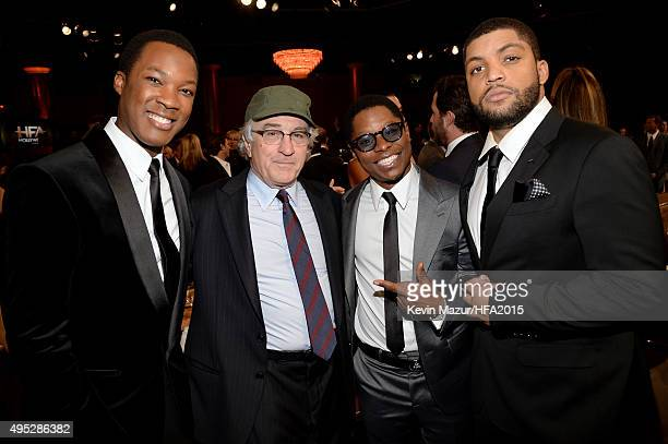 Actors Corey Hawkins Robert De Niro Jason Mitchell and O'Shea Jackson Jr attend the 19th Annual Hollywood Film Awards at The Beverly Hilton Hotel on...