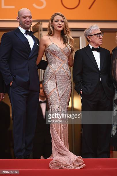 Actors Corey Stoll and Blake Lively and Director Woddy Allen attend the 'Cafe Society' premiere and the Opening Night Gala during the 69th annual...
