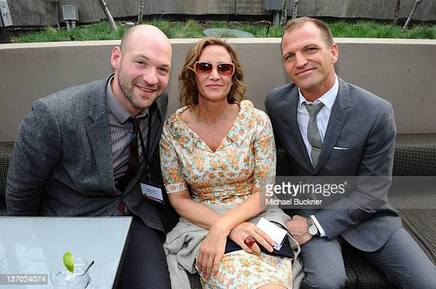 Actors Corey Stoll Janet McTeer and Joe Coleman attend the 2012 Independent Spirit Awards Filmmaker Grant and Nominee Brunch held at BOA Steakhouse...