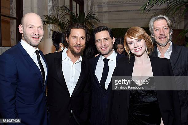 Actors Corey Stoll Matthew McConaughey Edgar Ramirez Director Stephen Gaghan and Actress Bryce Dallas Howard attend the The World Premiere Of Gold...