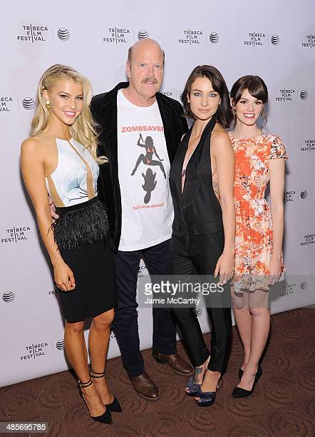 Actors Cortney Palm Rex Linn Lexi Atkins and Rachel Melvin attend the premiere of Zombeavers during the 2014 Tribeca Film Festival at Chelsea Bow Tie...