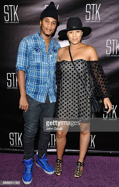 Actors Cory Hardrict and Tia Mowry attend STK Los Angeles 2016 anniversary party on August 11 2016 in Los Angeles California