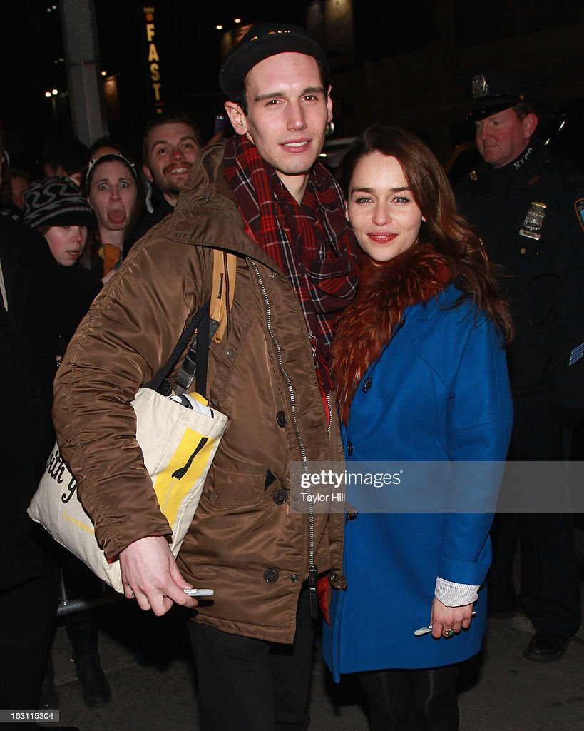 Actors Cory Michael Smith And Emilia Clarke Greet Fans At The Cort