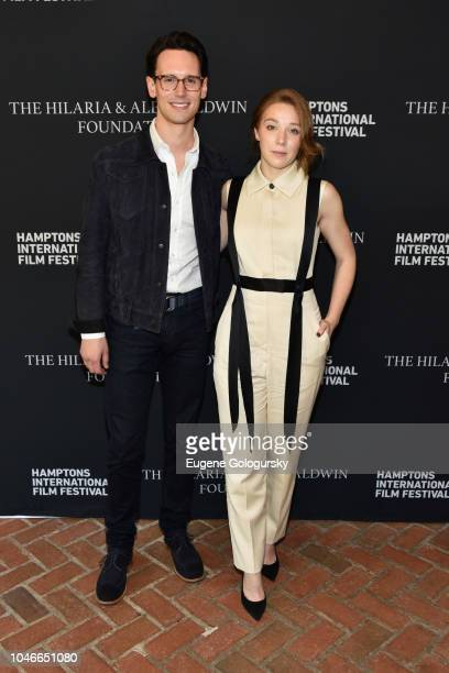 Actors Cory Michael Smith and Kayli Carter attend the Breakthrough Artists Brunch at Nick Toni's during Hamptons International Film Festival 2018 Day...