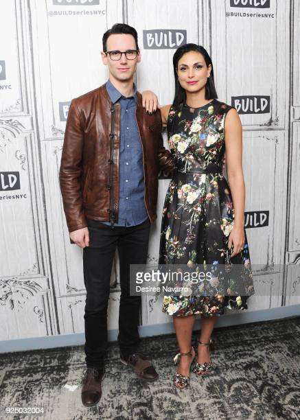 Actors Cory Michael Smith and Morena Baccarin visit Build Series to discuss 'Gotham' at Build Studio on February 27, 2018 in New York City.