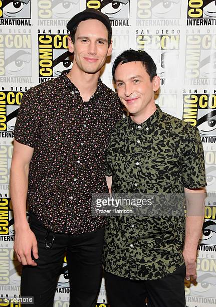 "Actors Cory Michael Smith and Robin Lord Taylor attend ""Gotham"" Press Line during Comic-Con International 2016 at Hilton Bayfront on July 23, 2016 in..."