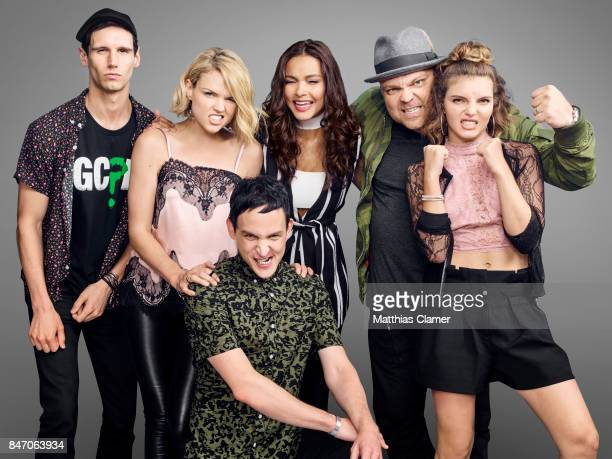 Actors Cory Michael Smith, Erin Richards, Robin Lord Taylor, Jessica Lucas, Drew Powell and Camren Bicondova from 'Gotham' are photographed for...