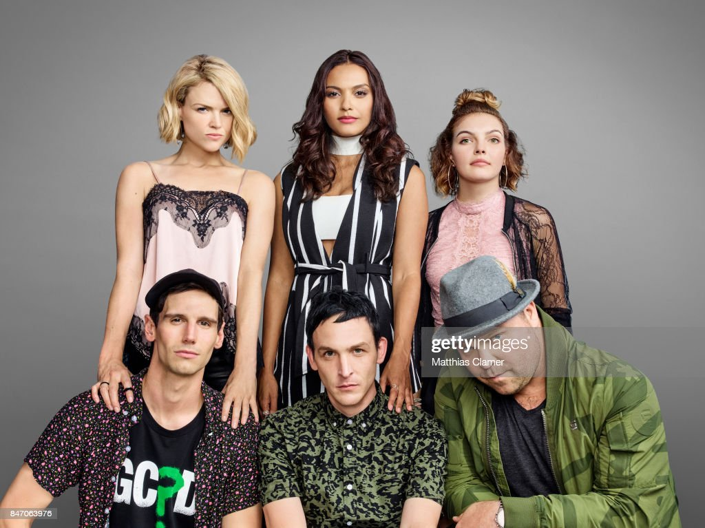 Actors Cory Michael Smith, Erin Richards, Robin Lord Taylor, Jessica Lucas, Drew Powell and Camren Bicondova from 'Gotham' are photographed for Entertainment Weekly Magazine on July 23, 2016 at Comic Con in the Hard Rock Hotel in San Diego, California.