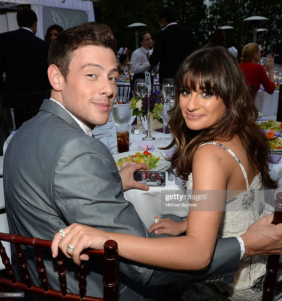 Actors Cory Monteith(L) and Lea Michele attend the 12th Annual Chrysalis Butterfly Ball on June 8, 2013 in Los Angeles, California.
