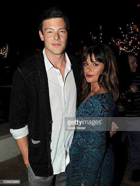 Actors Cory Monteith and Lea Michele attend the premiere of 20th Century Fox's 'Glee' Season 2 held at Paramount Studios on September 7 2010 in...
