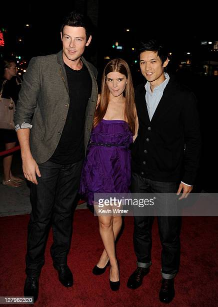 """Actors Cory Monteith, Kate Mara and Harry Shum, Jr. Arrive at the premiere of FX Network's """"American Horror Story"""" at the Cinerama Dome on October 3,..."""