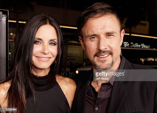 Actors Courteney Cox and David Arquette arrive at the Scream 4 World Premiere at Grauman's Chinese Theatre on April 11 2011 in Hollywood California