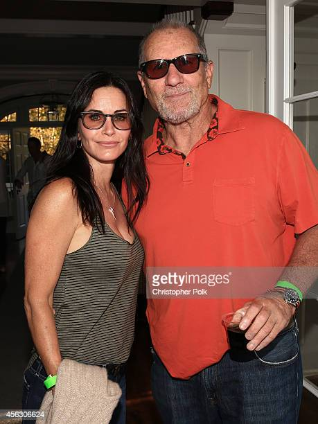 Actors Courteney Cox and Ed O'Neill attend Rock4EB Malibu with Jackson Browne David Spade sponsored by Suja Juice Sabra Hummus at Private Residence...