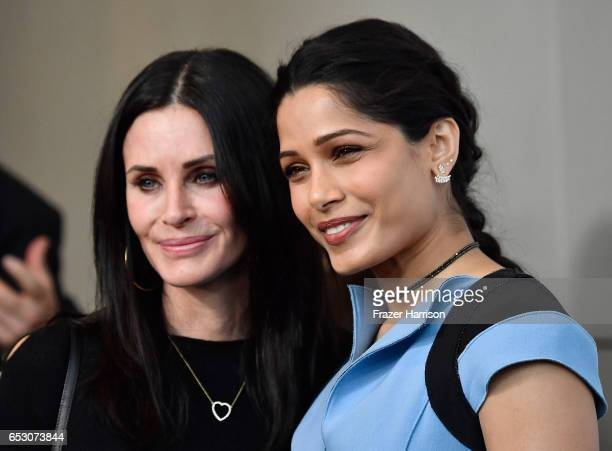Actors Courteney Cox and Freida Pinto attends UCLA Institute of the Environment and Sustainability celebrates Innovators For A Healthy Planet at a...